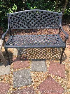 Checkered Outdoor Patio and Garden Bench