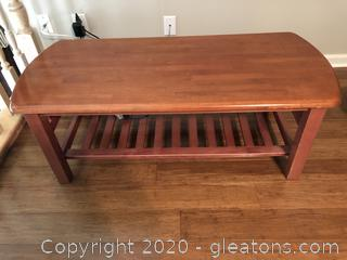 Solid Wood Coffee Table/Low Utility Table
