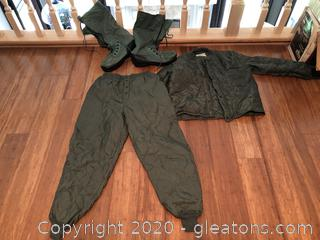 Flyer's Jacket, Trousers and Boots for Arctic Weather
