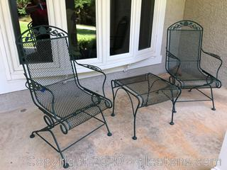 3 Piece Wrought Iron Porch Set