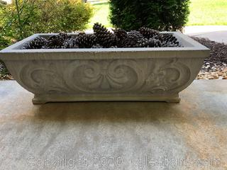 Scrolled Concrete Patio Planter (B)