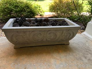 Scrolled Concrete Patio Planter (C)