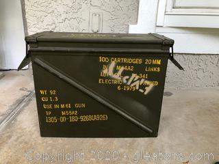 M61-Gun Metal Artillery Case- Empty (#2)