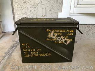 M61-Gun Metal Artillery Case- Empty (#1)
