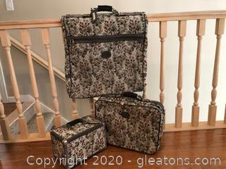 3 Pieces Pegasus Luggage Tapestry Made in The USA Soft Side