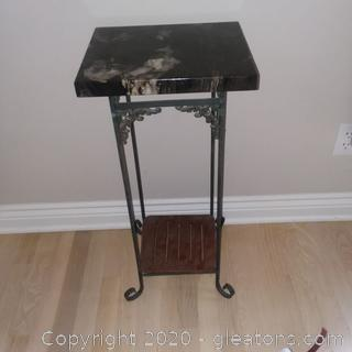Granite Top Accent Table