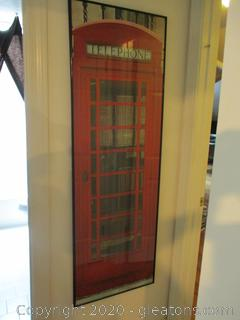 Large Framed Print of English Phone Booth London
