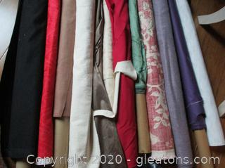 12 Rolls of Upholstery/Curtain Fabric