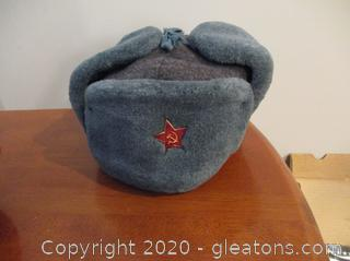 Authentic Russian Military KGB Winter Ushanka Hat