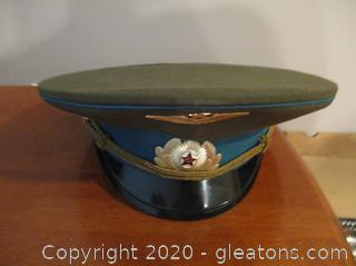 Authentic Russian Officer's Visor Hat with Barcode