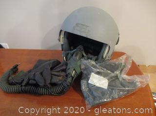 Air Force Pilot's Helmet with Oxygen Mask and More