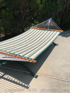 Pawleys Island Padded Reversible 2 Person Hammock with Heavy Arc Stand