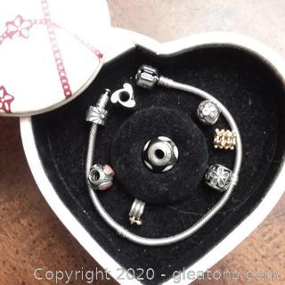 "7 1/2"" Pandora Charm Bracelet"