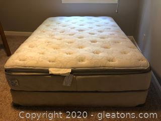 Queen Size Used Beauty Rest Mattress and Box Spring Set