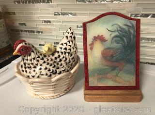 2 Pieces of Chicken Decor #2