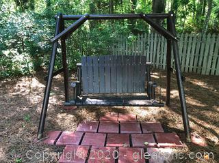 """Free Standing Porch Swing Seat is 47"""" x 18½"""" x 28"""""""
