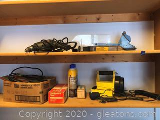 2-Shelf Tool Lot
