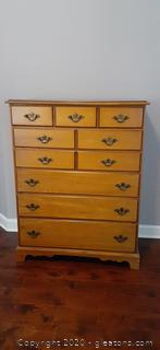 Johnson Carper Vintage Maple Chest of Drawers
