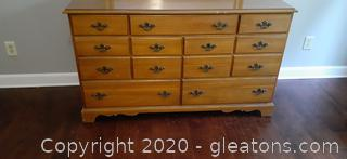 Johnson Carper Vintage Maple Dresser and Mirror
