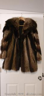 Raccoon Fur Coat LARGE