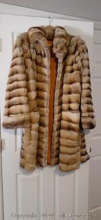 Mid Length Mink Fur Coat LARGE