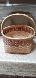 Handmade Reed Basket with Handle