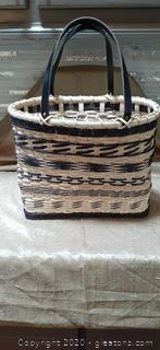 Handmade Reed Basket with Straps
