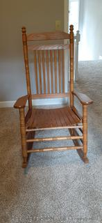 Cracker Barrel Slat Hardwood Rocking Chair
