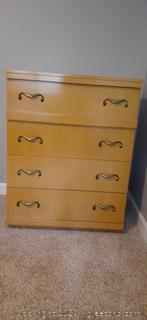 Vintage Blonde Johnson Carper Chest of Drawers