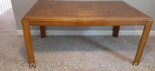 Rectangle Wood Dining Table with 1 Leaf Extension