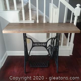 Table Made with Vintage Sewing Machine Base