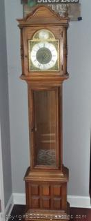 Pecan Finish Grand Mother Clock