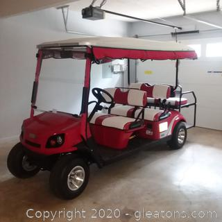 2019 E.Z. Go 6 Passenger Golf Cart With Factory Warranty! LIKE NEW