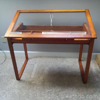 Studio Designs Glass top Drafting Table