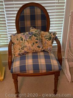 Vintage Upholstered Captains Chair