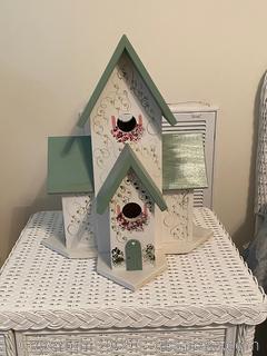 Large Handpainted Bird Mansion