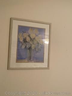 Carol Rowan Painting of Lilac and Peonies