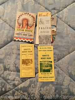 Vintage Lot of Knott's Benry Farms Brochures