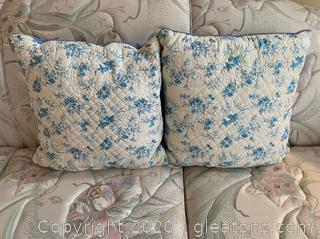 Pair of Town and Country Throw Pillows