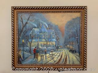 Original Framed Art On Canvas