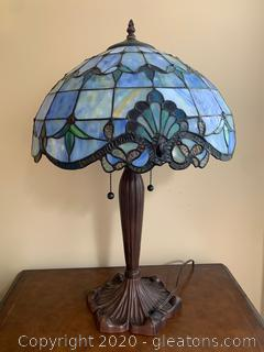 (D) Tiffany Reproduction Table Lamp