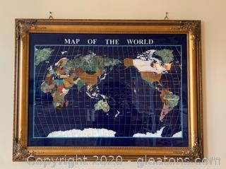 Gemart Gemstone Wall Map