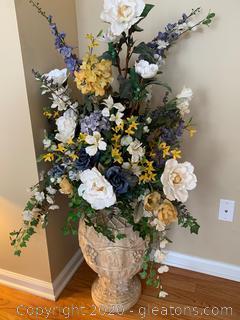 Stone Planter Floral Arrangement