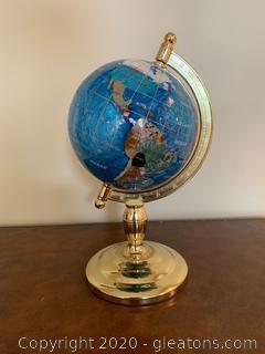 Gemart Gemstone Mini Table Globe