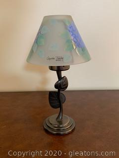 Vintage Glynda Turley Hydrangea Tea Light Lamp