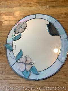 Stained Glass Oval Mirror