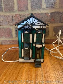 Stained Glass 2 Story House Light