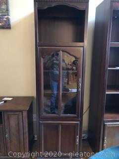 Glass Door Cabinet Book Shelf  (A)