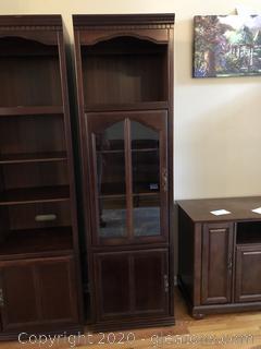 Glass Door Cabinet Bookshelf (B)