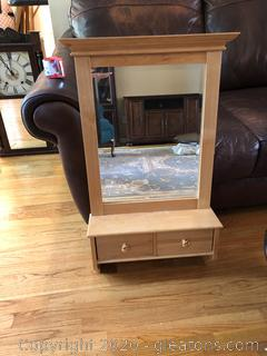 Wall Mirror With Drawers